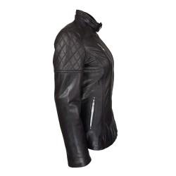Veste cuir avec capuche amovible