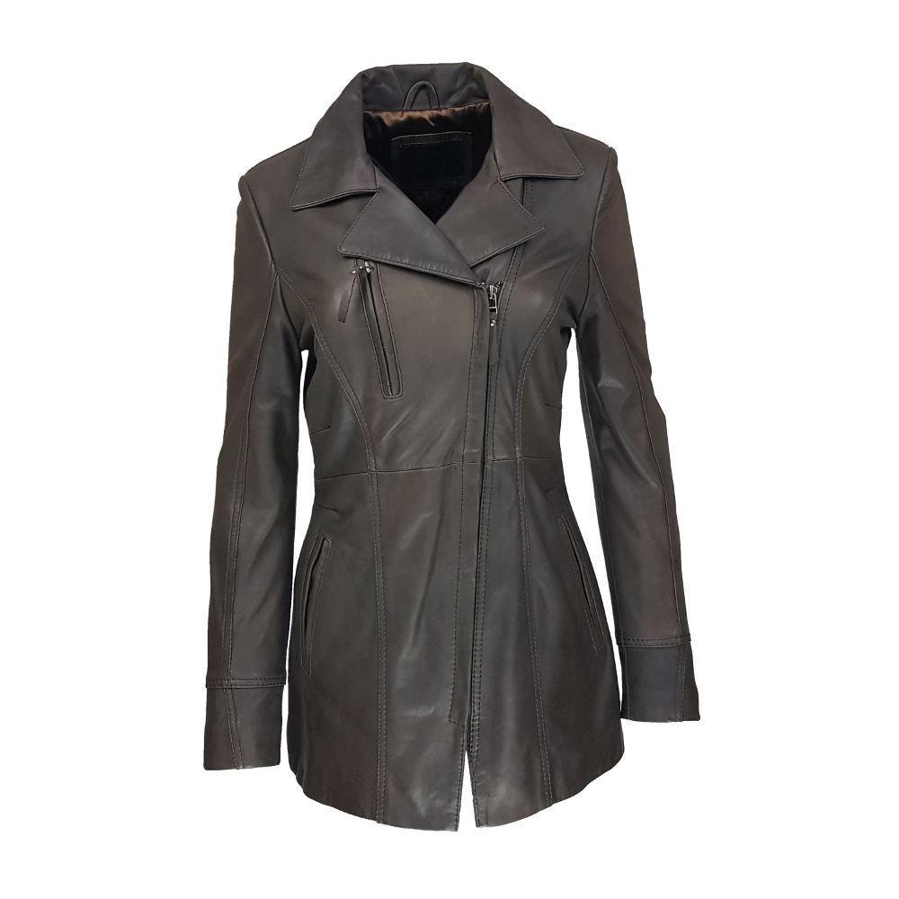 3a7a3d9c85b00 veste femme cuir a zip barra vue de face